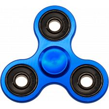 Metal Hand Tri Spinner Anti-Stress Fidget Toy - Blue -