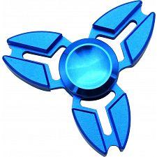 Metal Ox Horn Tri Spinner Anti-Stress Fidget Toy - Blue -