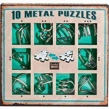 10 Metal Puzzle Set - Green -