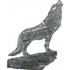 3D Crystal Puzzle - Wolf (Black) -