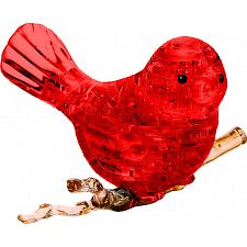 3D Crystal Puzzle - Bird (Red) -