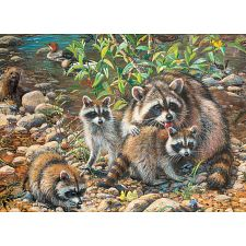 Racoon Family - Family Pieces Puzzle -