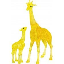 3D Crystal Puzzle - Giraffe & Baby -