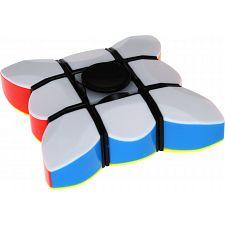 Fidget Spinner & 3x3x1 Super Floppy Cube - Black Body -