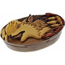 Wolf Howling - 3D Puzzle Box -
