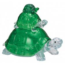 3D Crystal Puzzle - Turtles -
