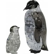 3D Crystal Puzzle - Penguin & Baby -