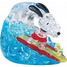3D Crystal Puzzle - Snoopy Surf -