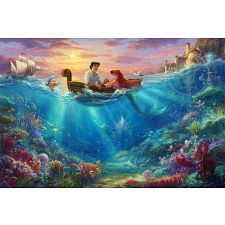 Thomas Kinkade: Disney - Falling in Love -