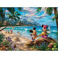 Thomas Kinkade: Disney - Mickey and Minnie In Hawaii -