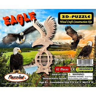 Picture of Puzzle Master Eagle - 3D Wooden Puzzle(PM02125) (Challenging Puzzles)