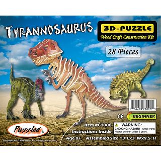 Picture of Puzzle Master Tyrannosaurus - Painted - 3D Wooden Puzzle(PM02152) (Challenging Puzzles)