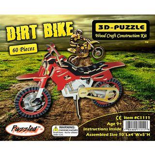Cheap Puzzle Master Dirt Bike – Painted – 3D Wooden Puzzle(PM02156)