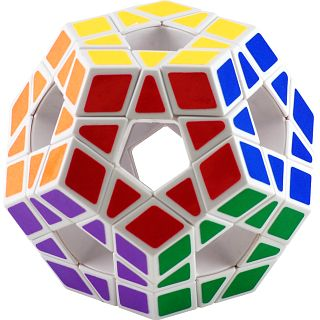 Buy Low Price Puzzle Master 12 Color Holey Megaminx – White Body Puzzle(PM02953)