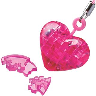 3D Crystal Puzzle Mini - Heart - Pink