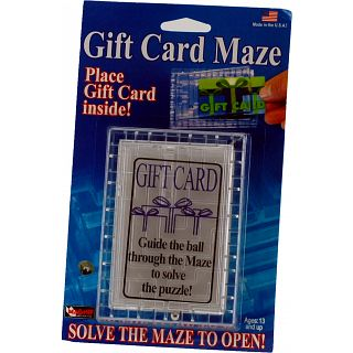 Gift Card Maze Clear Wire Metal Puzzles Puzzle Master Inc