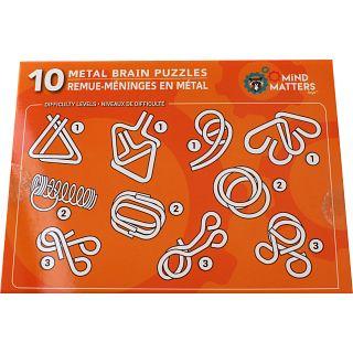 10 Metal Brain Puzzles - Orange   Wire & Metal Puzzles   Puzzle